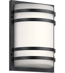 kichler 11320bktled signature led 13 inch textured black outdoor wall light medium