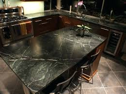 cleaning black slate countertops