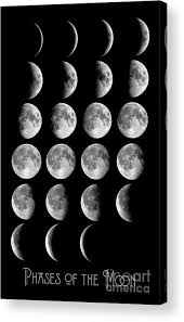 Moon Chart Astronomy Chart Phases Of The Moon Lunar Chart Acrylic Print