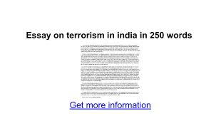 essay on terrorism in in words google docs
