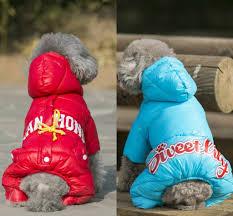 Petalk Blue/Black/Red <b>Pet Clothes Winter Dog</b> Jumpsuit Rompers ...