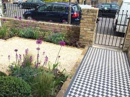 Small Front Driveway Design Ideas Small Front Garden Design In London With Victorian Tile Path