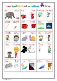 Opposites Words Chart Learning Prodigy