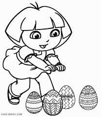 Dora Easter Coloring Pages To Print Murderthestout