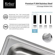 American Made Kitchen Sinks Kraus Ktm25 25 Inch Topmount Single Bowl 18 Gauge Stainless Steel