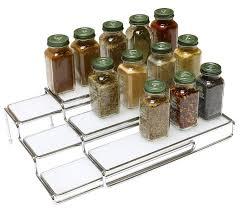 Tier Spice Rack Spice Rack Organizer Cabinet Kitchen Step Shelf Tier Level Storage