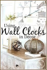 using wall clocks in decor stonegable
