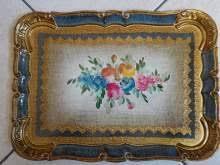 Vassoi In Legno Fiorentini : Vassoio legno decorato arredamento mobili e accessori per la