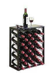 amazoncom mango steam 32 bottle wine rack with glass table top black black wine cabinet w88
