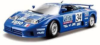 Burago 1991 bugatti eb 110 (blue) excellent cond in box 1:24 scale mint model. Amazon Com Bburago Bugatti Eb110 Super Sport 34 Race 1994 Blue 28010 1 24 Scale Diecast Model Toy Car Toys Games
