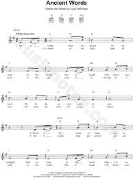 music notes in words