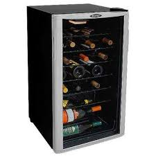 35 bottle wine cooler reversible door tempered glass door worktop 1
