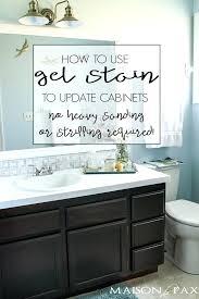 repainting bathroom cabinets refinish cabinet doors