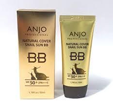 amazon anjo natural cover snail sun bb cream spf 50 pa 50ml x 3ea makeup base snail mucus korean cosmetics beauty
