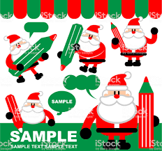 cute santa claus drawing. Exellent Drawing Merry Christmas And New Year Greeting Cute Santa Claus Writing With A  Pencil Drawing Intended C