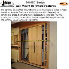 inspiring wall mounted sliding door hardware with johnsonhardware sliding folding pocket door hardware johnson