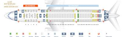 Etihad Flight Seating Chart Seat Map Airbus A330 200 Etihad Airways Best Seats In The Plane