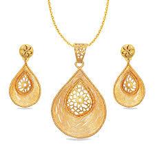 danesa sankalp gold pendant set