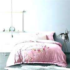 cherry blossom bedroom set blossoms romantic pink cotton linen duvet japanese cover