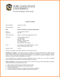 Proposal Contract Templates Contract Award Certificate Sample Copy Proposal Contract Proposal 5