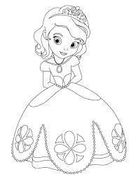 Lovely Of Easy Disney Princess Coloring Pages Stock Printable