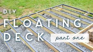 Floating Deck Designs Diy Floating Deck Part One Frame Moisture Barriers