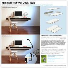 minimal float wall desk quick make over for mass ion or diy throughout minimal float wall