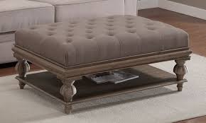 tufted coffee table ottoman round ottomans