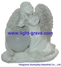 polyresin angel solar light solar angel