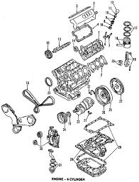 parts com® audi engine cylinder head valves valve cover right 1992 audi 100 cs v6 2 8 liter gas cylinder head valves