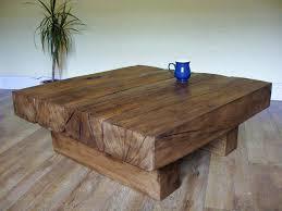 4 beam square coffee table rustic oak