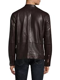 john varvatos leather racer jacket pinot noir men apparel coats jackets shearling john varvatos