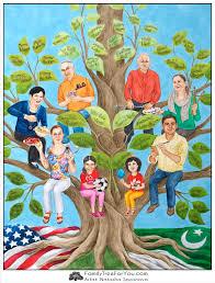 custom family tree painting celebrating family s diversity