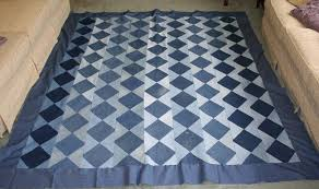 Make a Beautiful Quilt from Old Jeans & Quilt Made from Old Jeans and Repurposed Denim Adamdwight.com