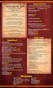 specials menu lunch specials and lunch menu at normas place mexican food san