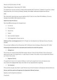 Sample Home Rental Agreement Informal Lease Agreement Template Free Contract Templates Word Ideas ...