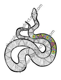 Small Picture snake coloring sheet animal coloring pdf zentangle adult
