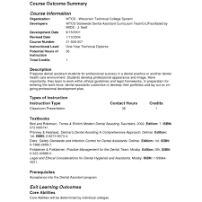 Charming Resume Templates For Dental Assistant With 10 Sample