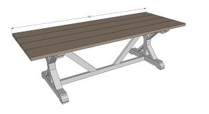 diy outdoor farmhouse table. Diy Outdoor Farmhouse Table N