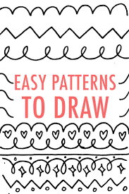 cool designs to trace. Easy Patterns To Draw: Design Your Own Pattern | + Elements--Bible Journaling Pinterest Patterns, Simple Shapes And Cool Designs Trace