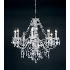308 8cl clarence 8 light traditional chandelier ceiling pendant light clear acrylic finish
