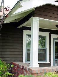 Craftsman Style Columns Porch Rustic Product Home Ideas Tapered Bungalow  Column Detail - Knowhunger