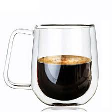 handmade glass mug double walled clear glass mug 8 5oz 250ml drink ware for hot or cold beverages