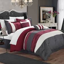 Chic Home Coralie 6-Piece King Comforter Set in Burgundy