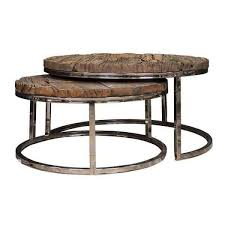 9867 kensington round coffee table set old wood from richmond