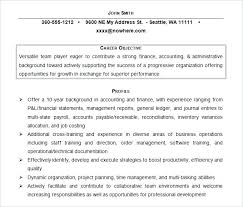 Resume Objective For Internship Finance Internship Resume Objective 41