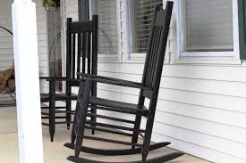image of black outdoor rocking chairs designs