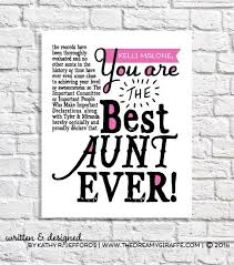 Quotes About Being An Aunt 68 Amazing Lovely Niece Quotes From Uncle Aunt Gift Best Aunt Ever Print