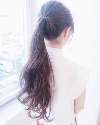 スーパーロングヘア簡単アレンジ15選超ロングヘアや前髪のまとめ髪は