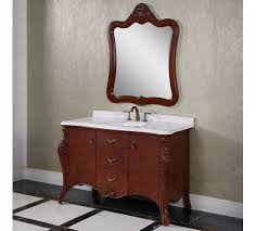 53 inch antique single sink bathroom vanity dark brown finish